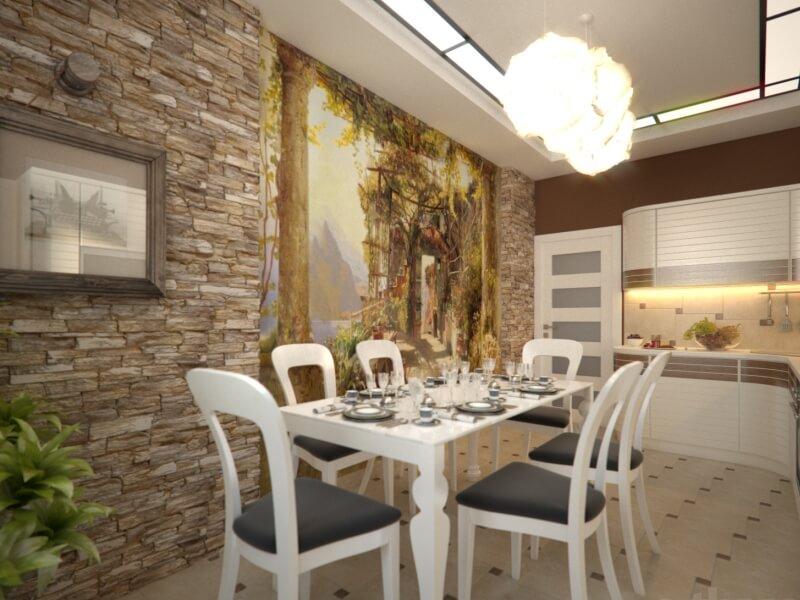 Кухни интерьер стен фото