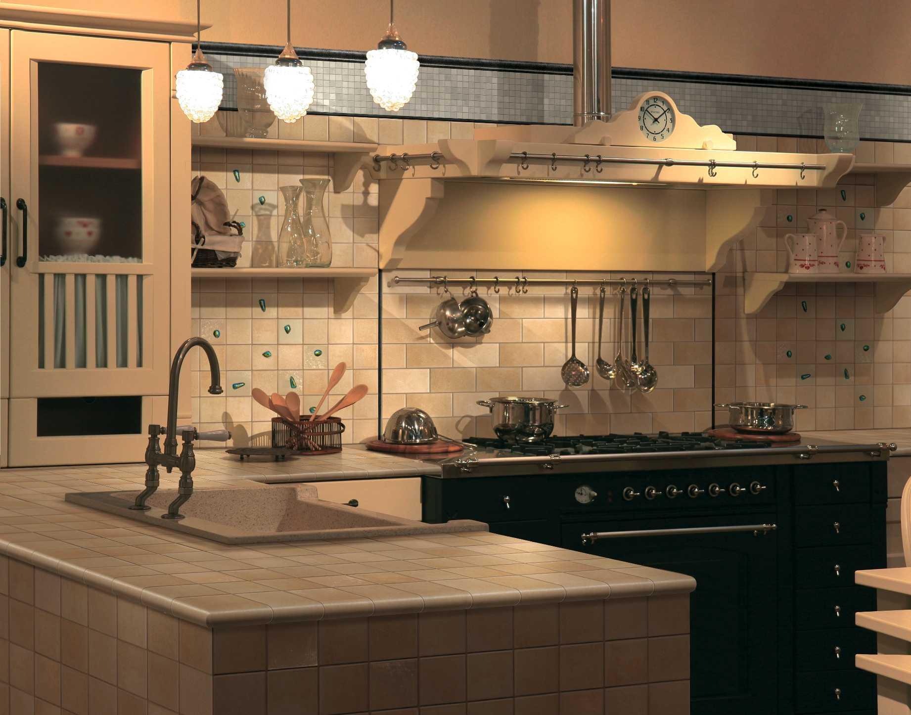 Кухня из керамогранита своими руками