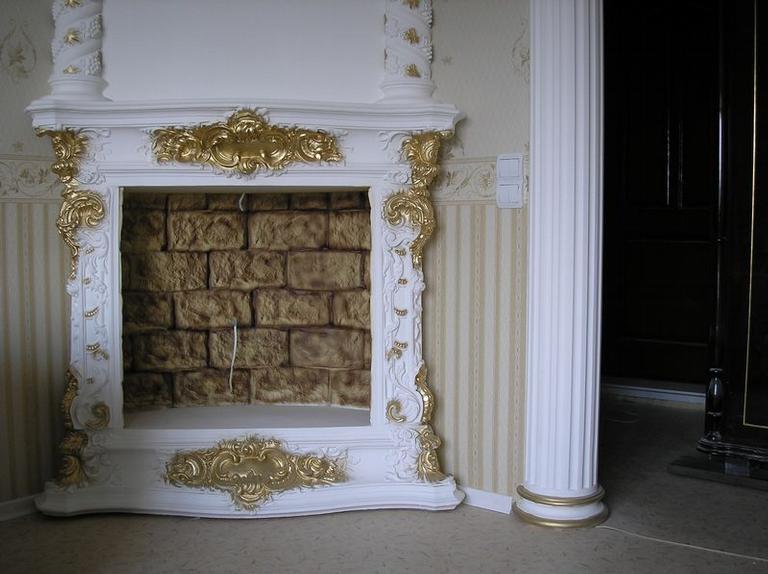 Декорирование камина лепнина мастер класс от марины фото