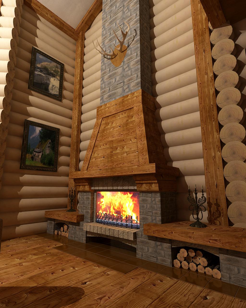 Варианты каминов для деревянного дома по типам топлива 27