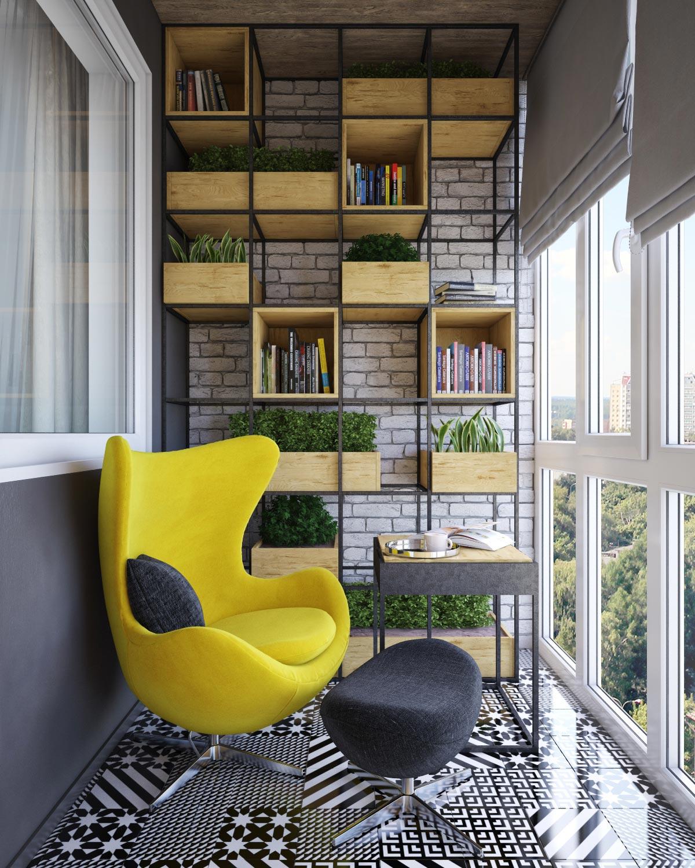 25 шикарных идей, способных превратить скучный балкон в люби.