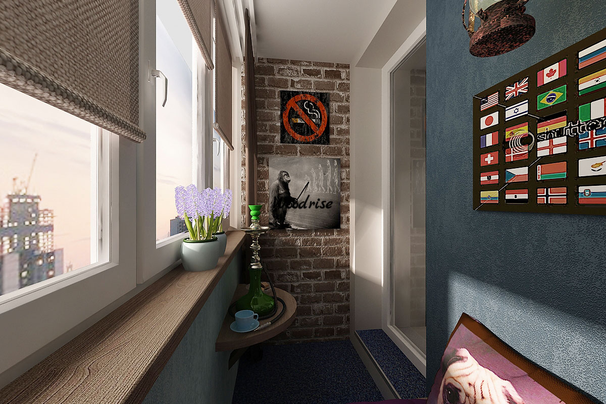 Оформление и отделка стен на балконе: возможные варианты и н.