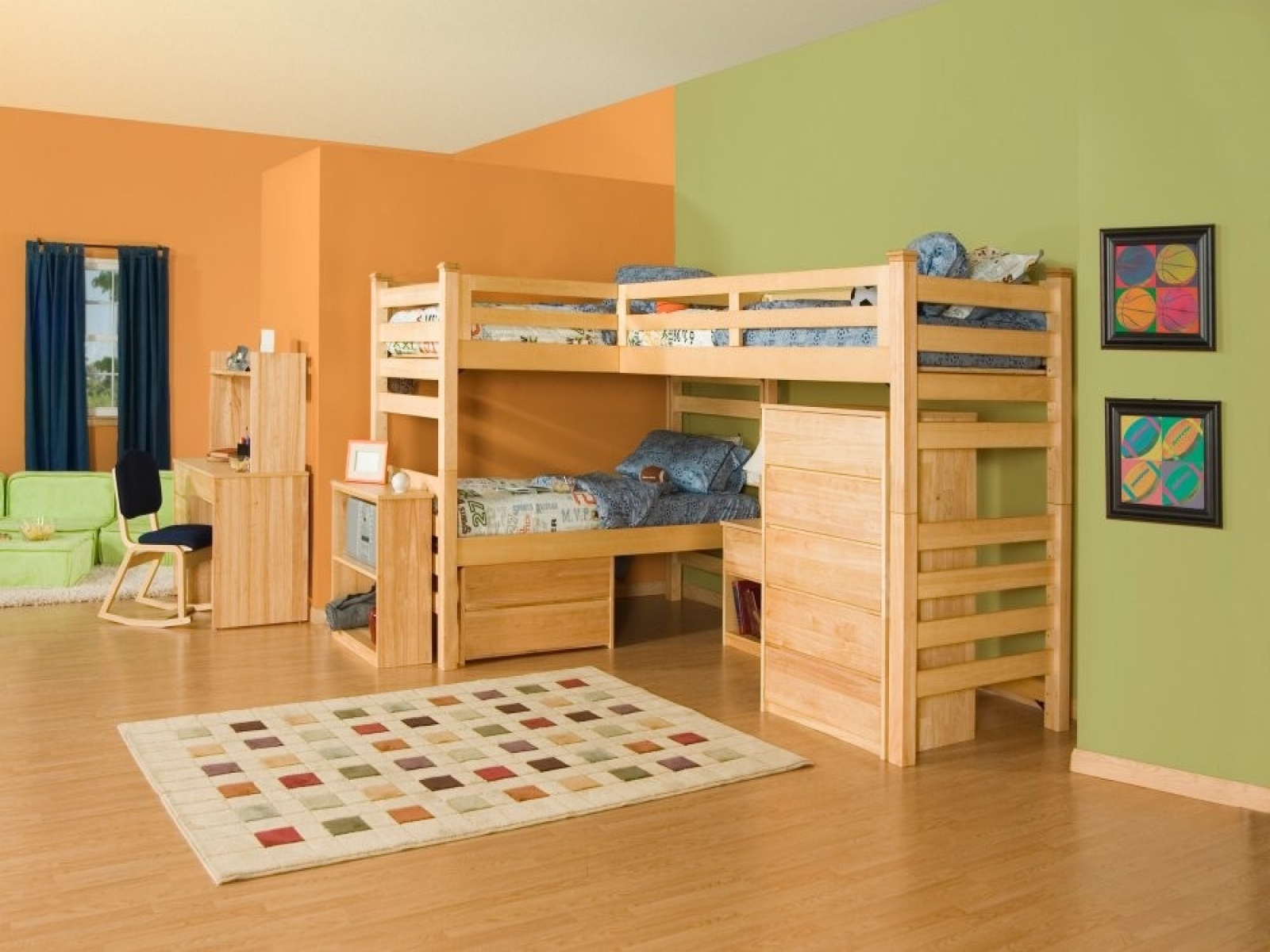 Кровати чердаки для двух детей фото