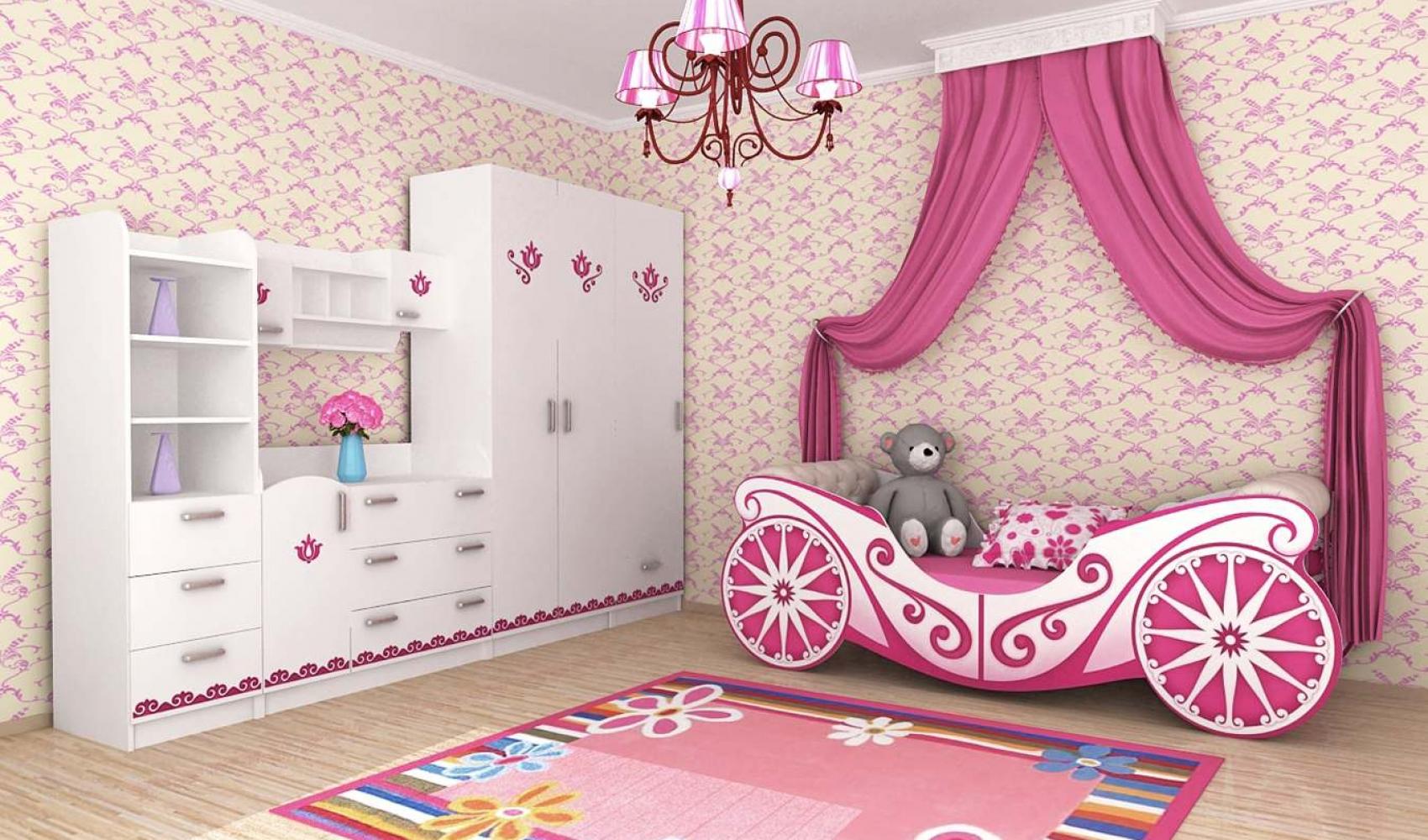 Детская кровать карета для девочки