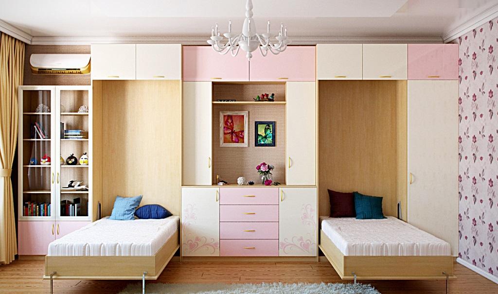 Подъемная кровать для двоих детей