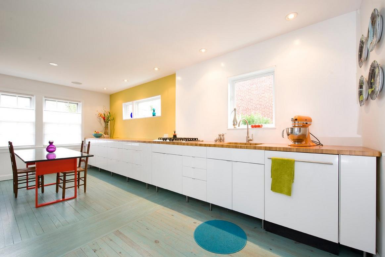 кухня без навесных шкафов дизайн реальные фото 2