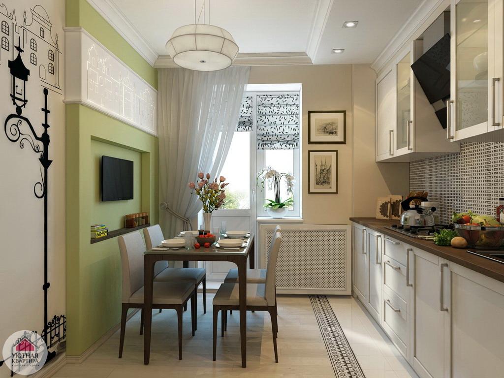 Кухня 8 кв метров с выходом на балкон идеи для кухни интерьеры