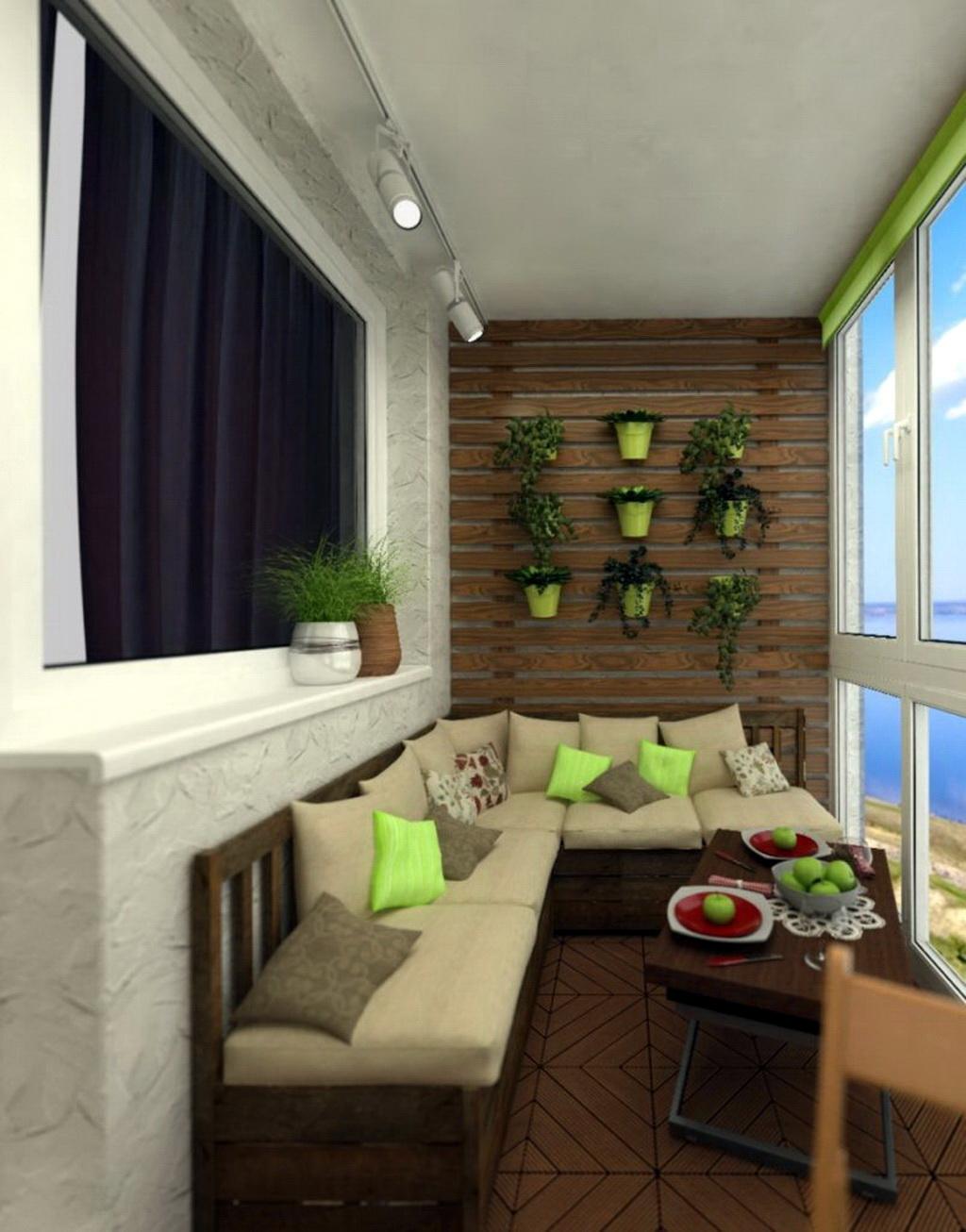 Стильный дизайн балкона и лоджий от студии дизайна интерьеро.