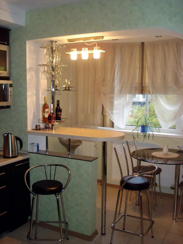 Дизайн интерьера кухни совмещенной с балконом: фото идеи.