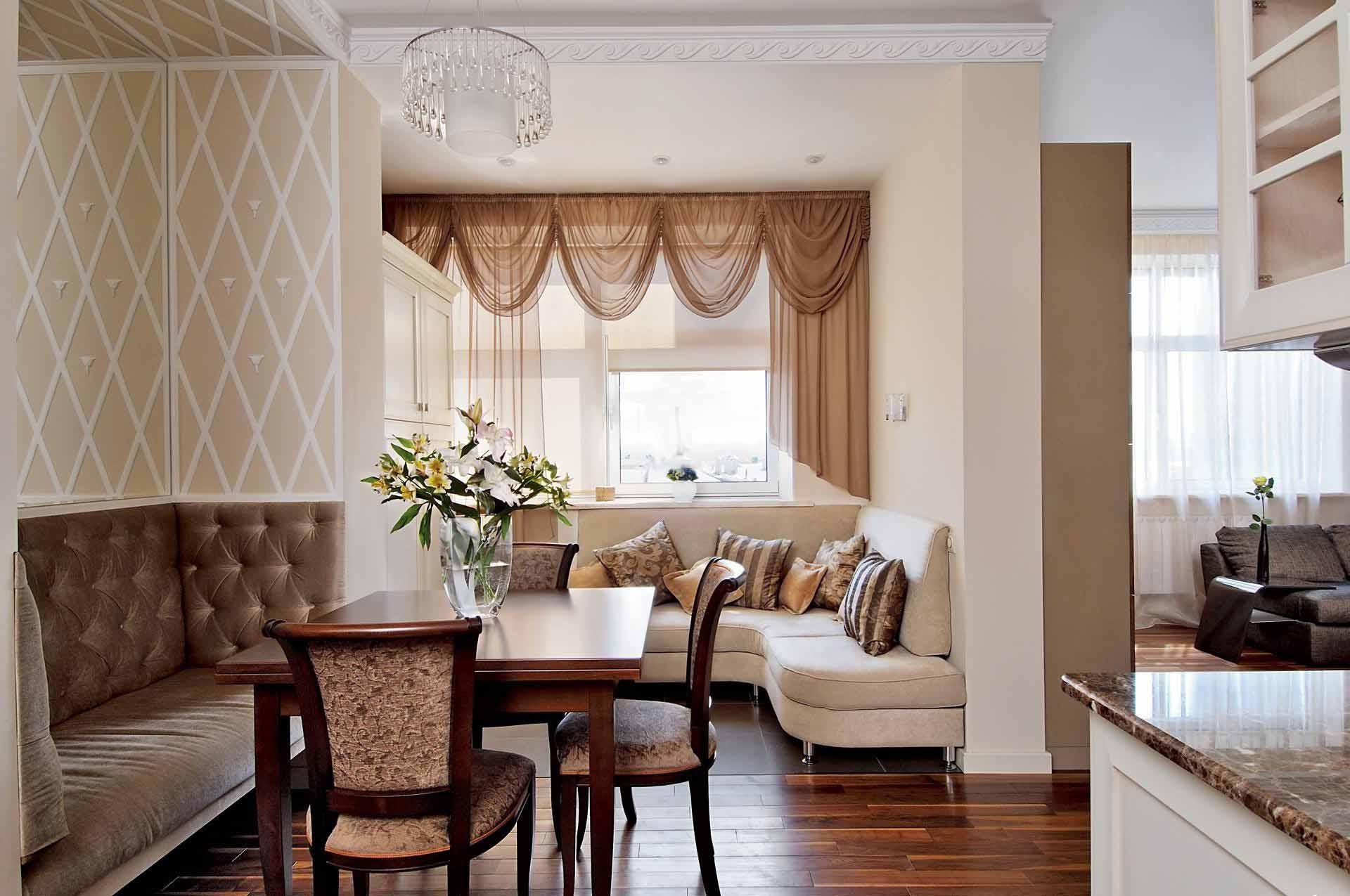 Интерьер столовой-гостиной фото в квартире