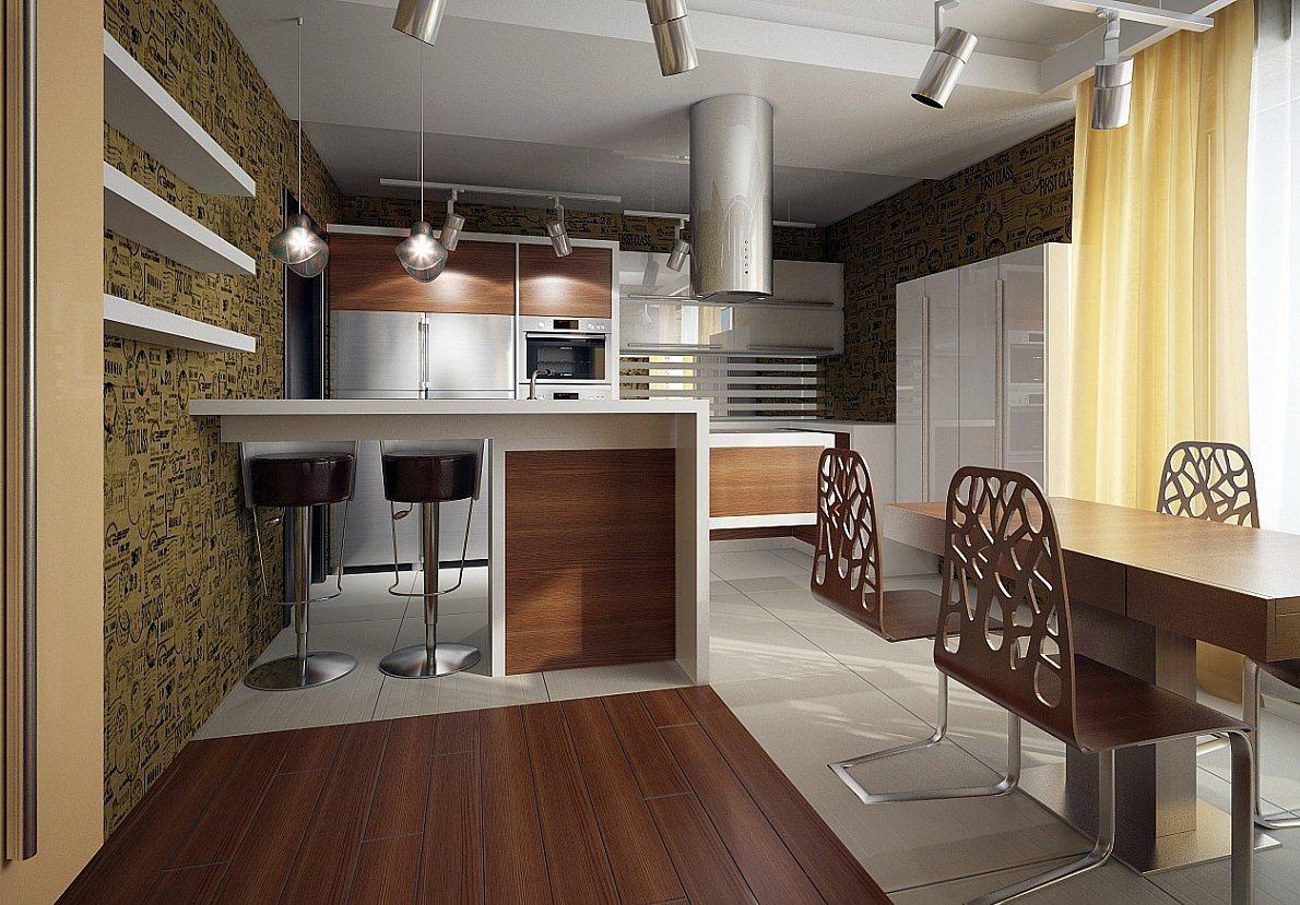 дизайн кухни на 30 кв фото частный дом