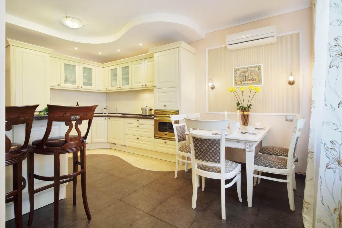 Кухни-столовые с барными стойками дизайн