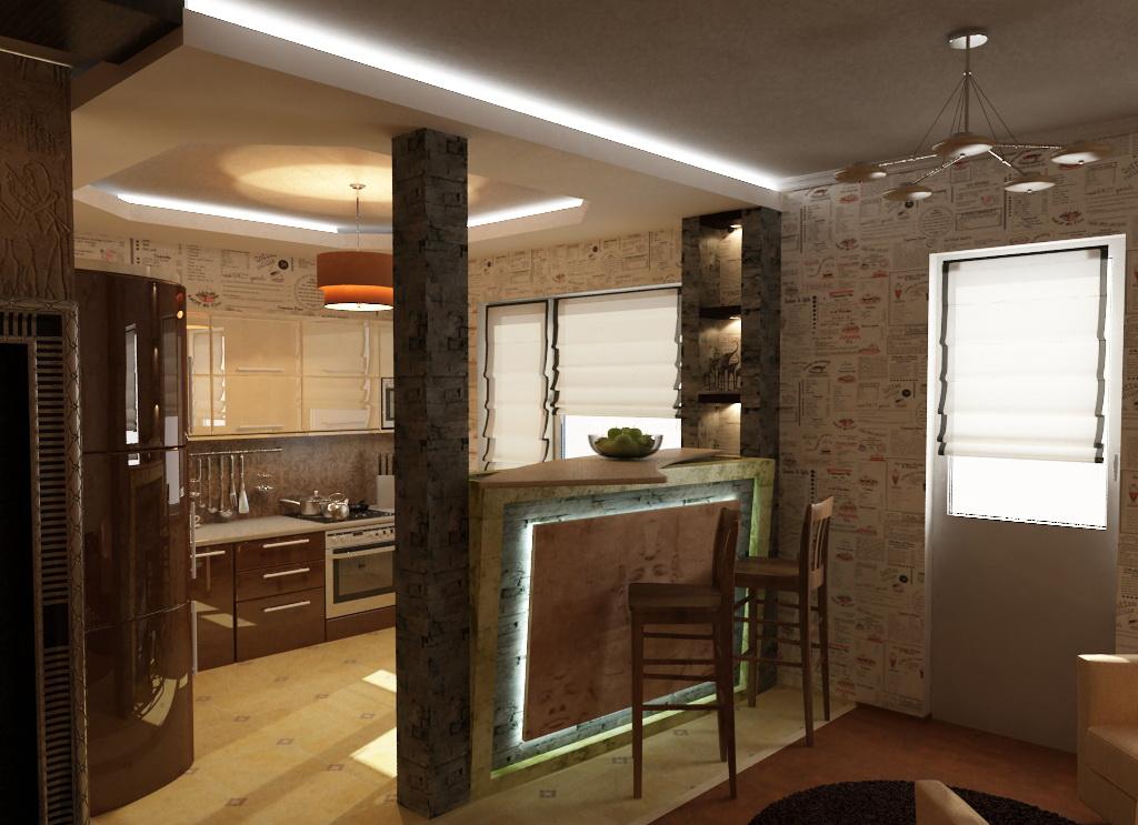 Дизайн кухни гостиной своими руками фото 67