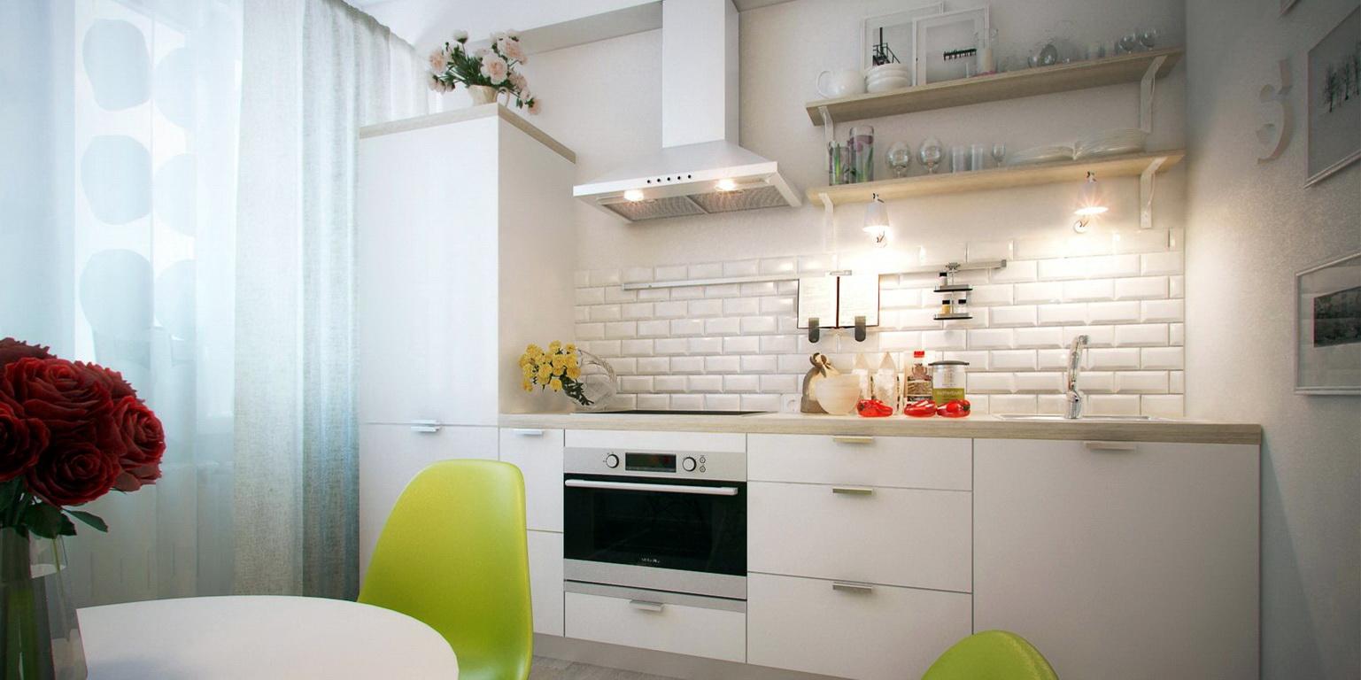 """Дизайн прямой кухни 3 метра - 25 современных фото идей """" все."""