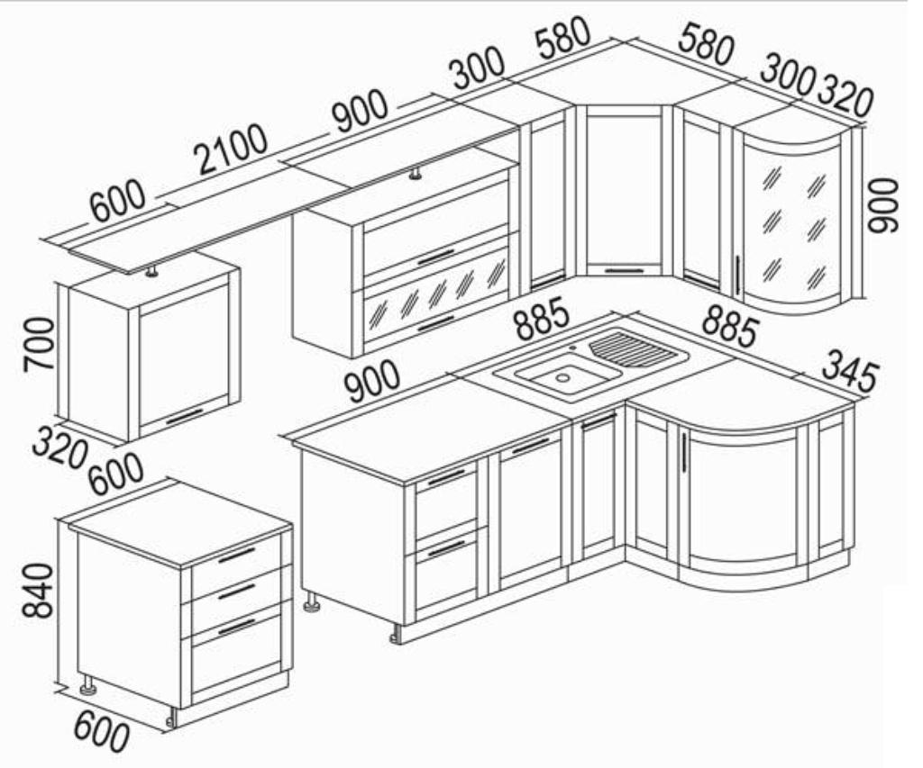 Кухонный гарнитур своими руками чертежи схемы