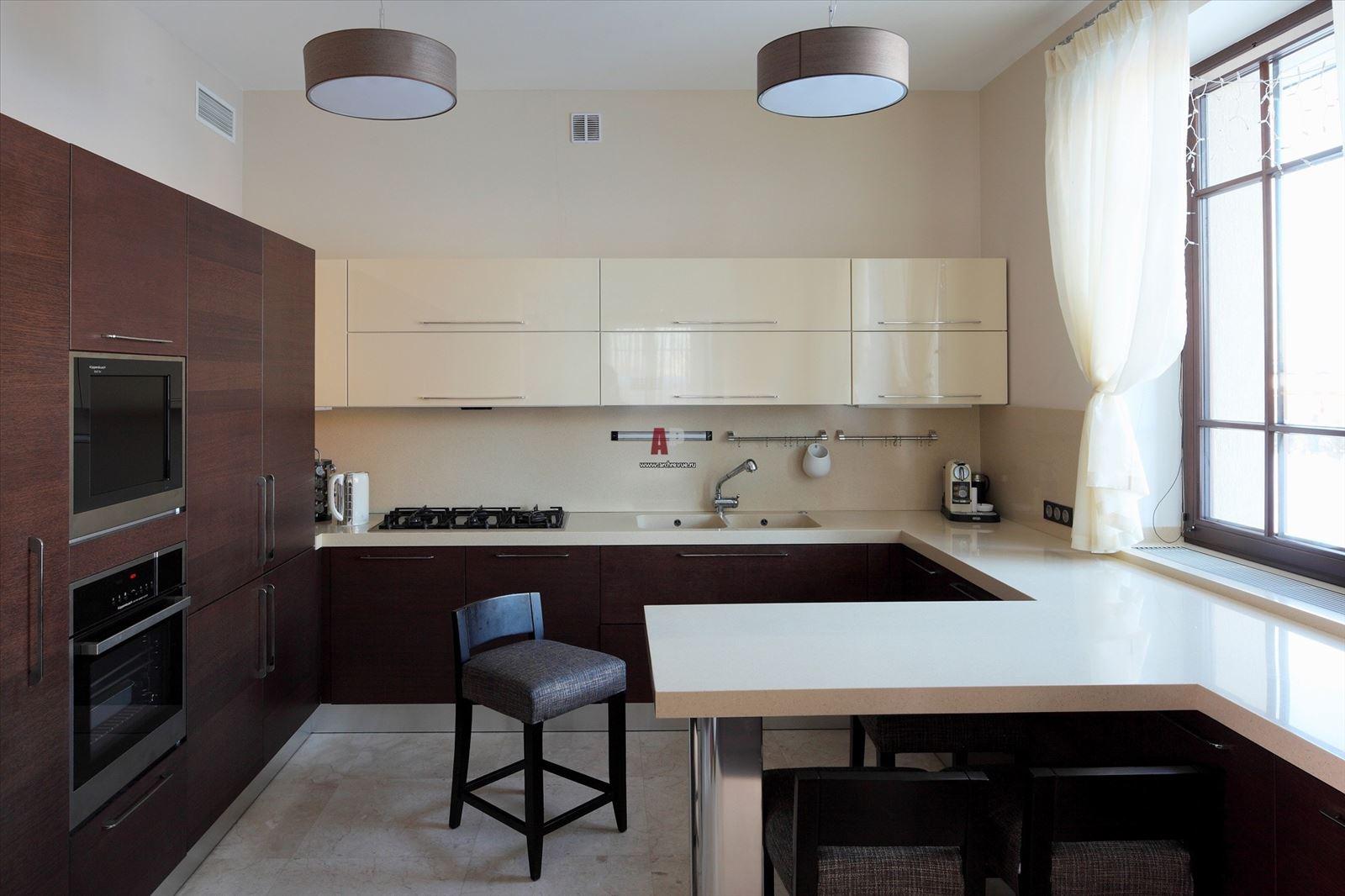 Кухня дизайн в доме реальные