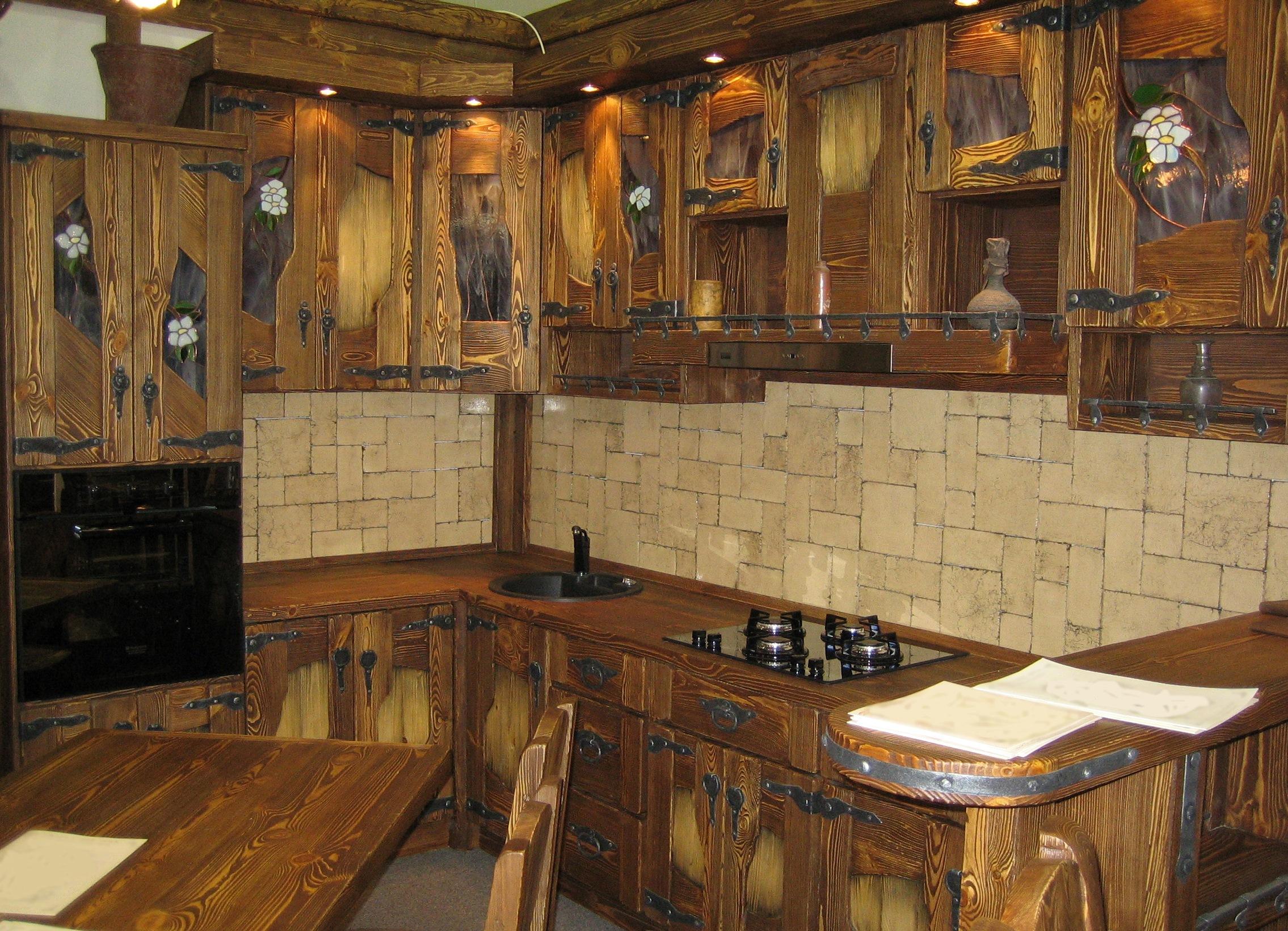 Кухня из горбыля