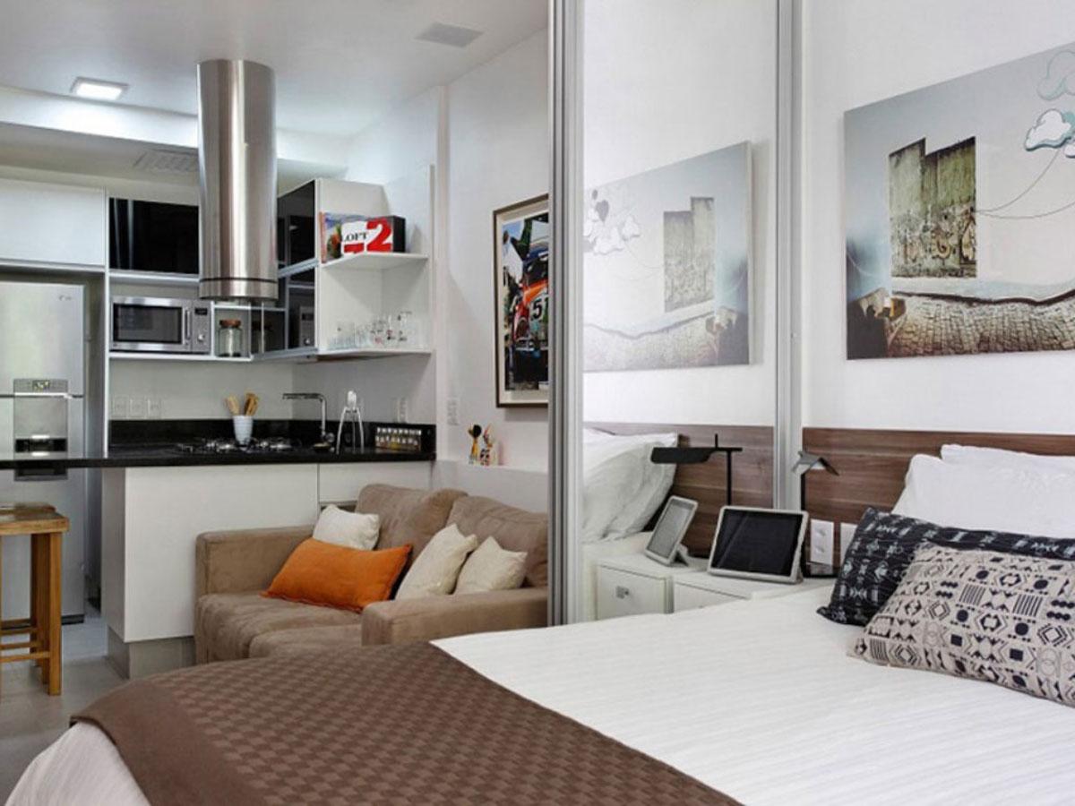 Дизайн комнаты 24 кв.м с одним окном