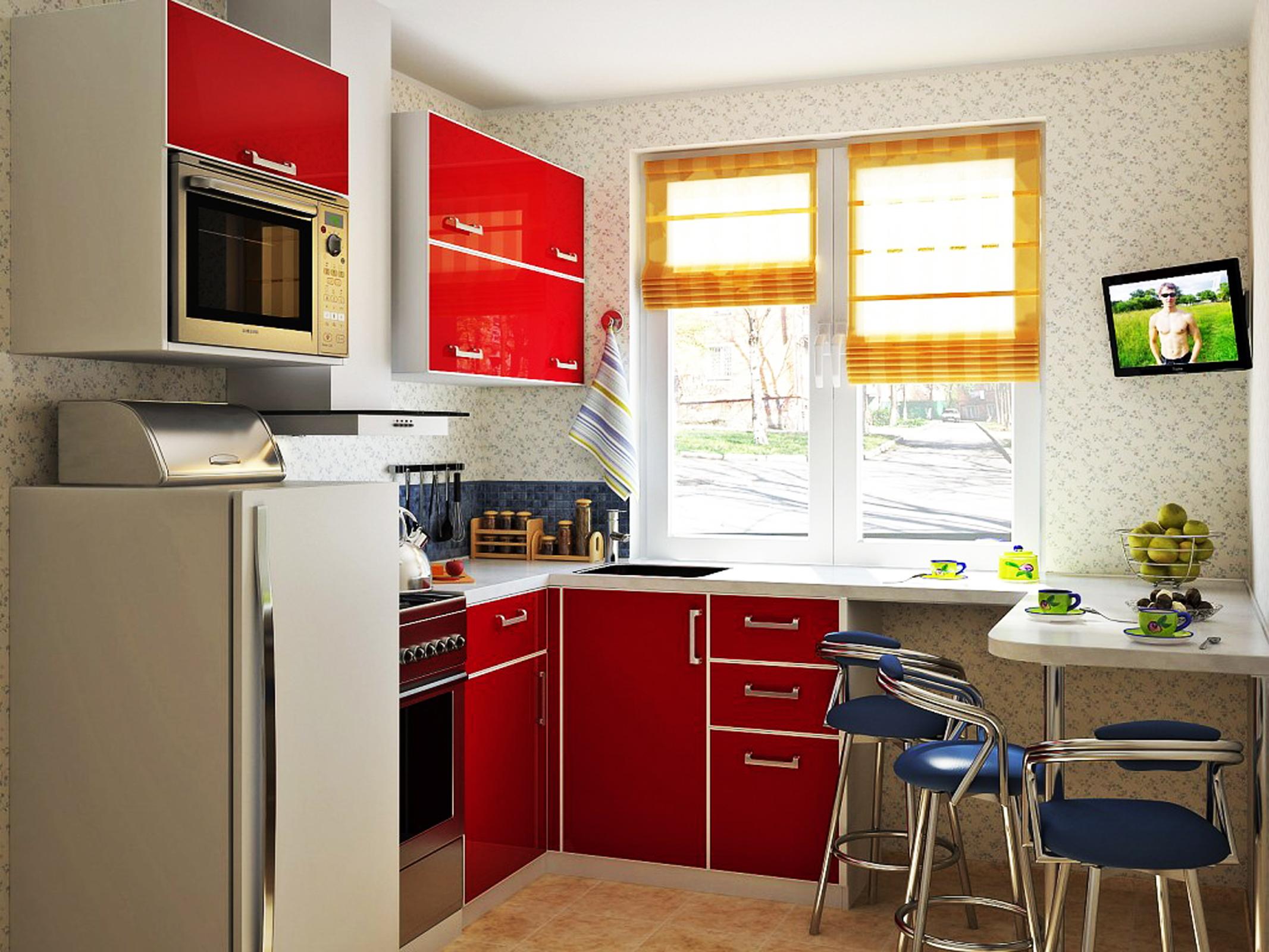 Дизайн маленькой кухни.