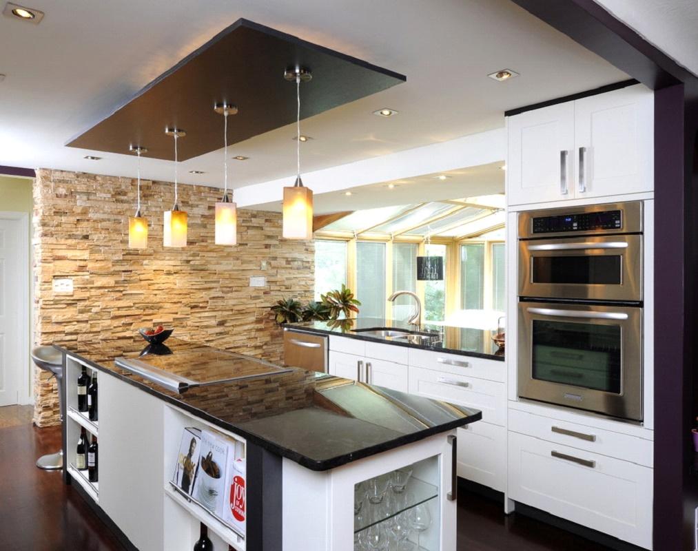 Потолок в кухни дизайн