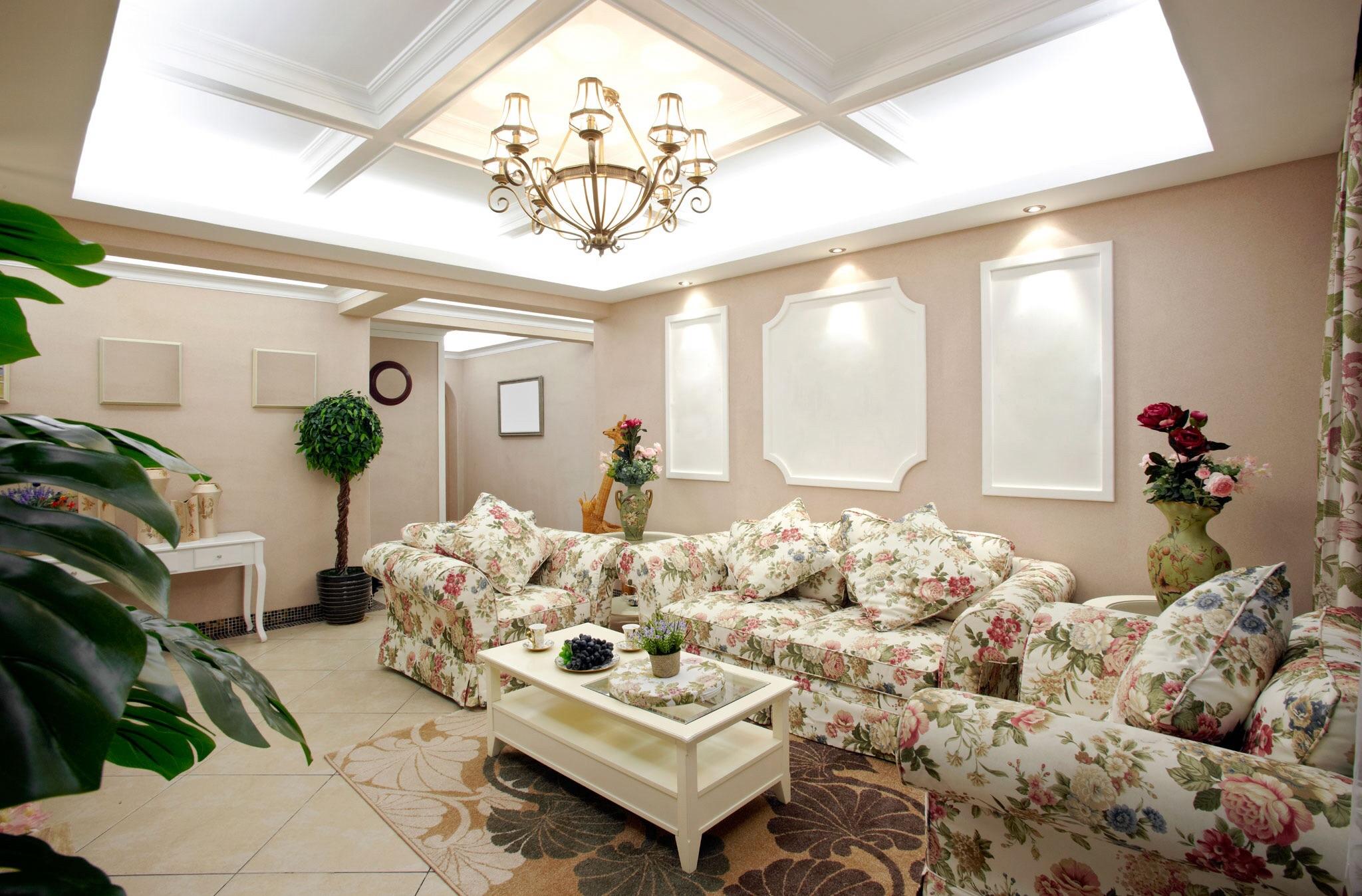 Навесные потолки из гипсокартона: фото дизайна