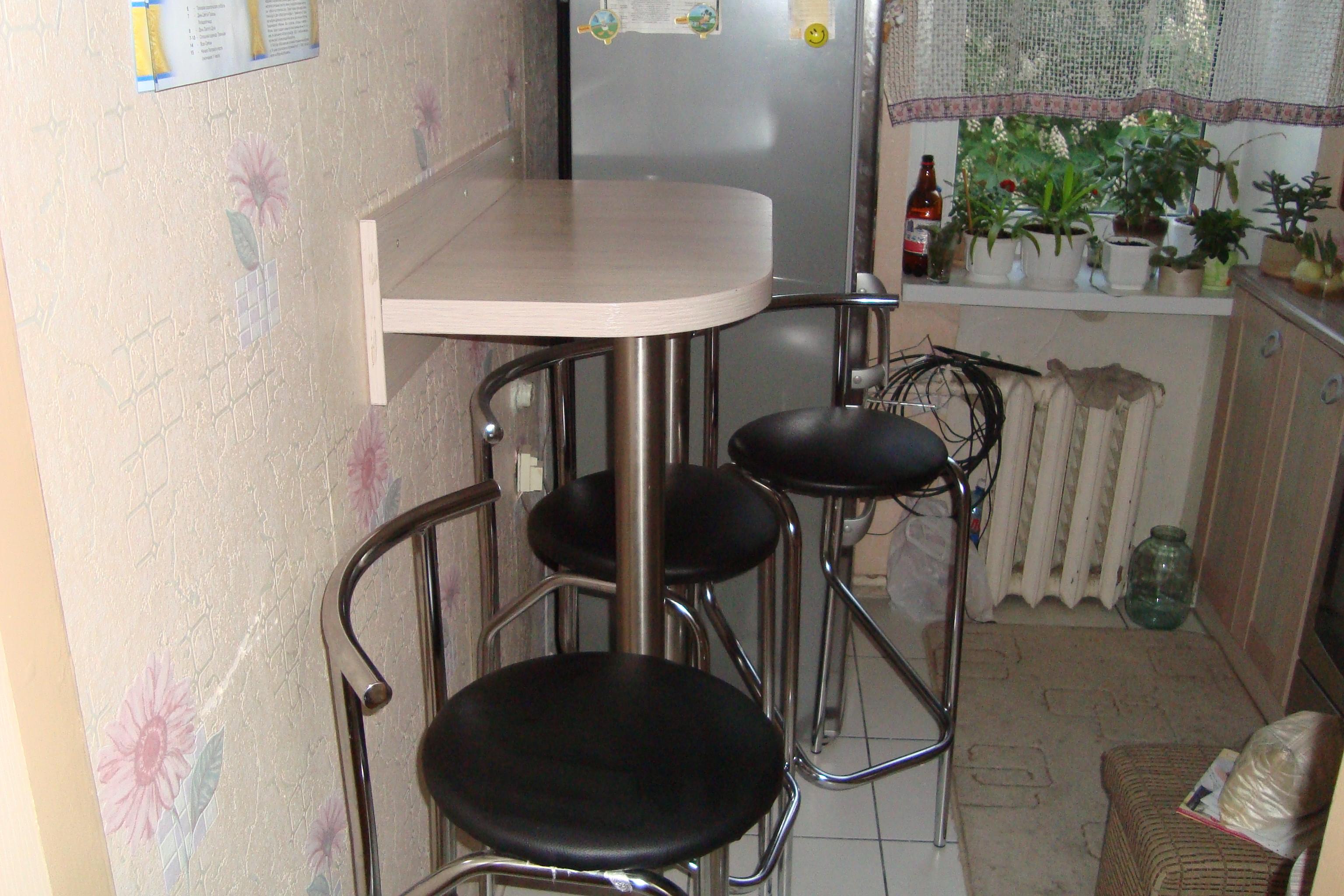 Барный стол для маленькой кухни своими руками 56