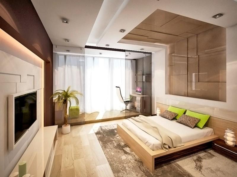 Дизайн балкона совмещенный со спальней