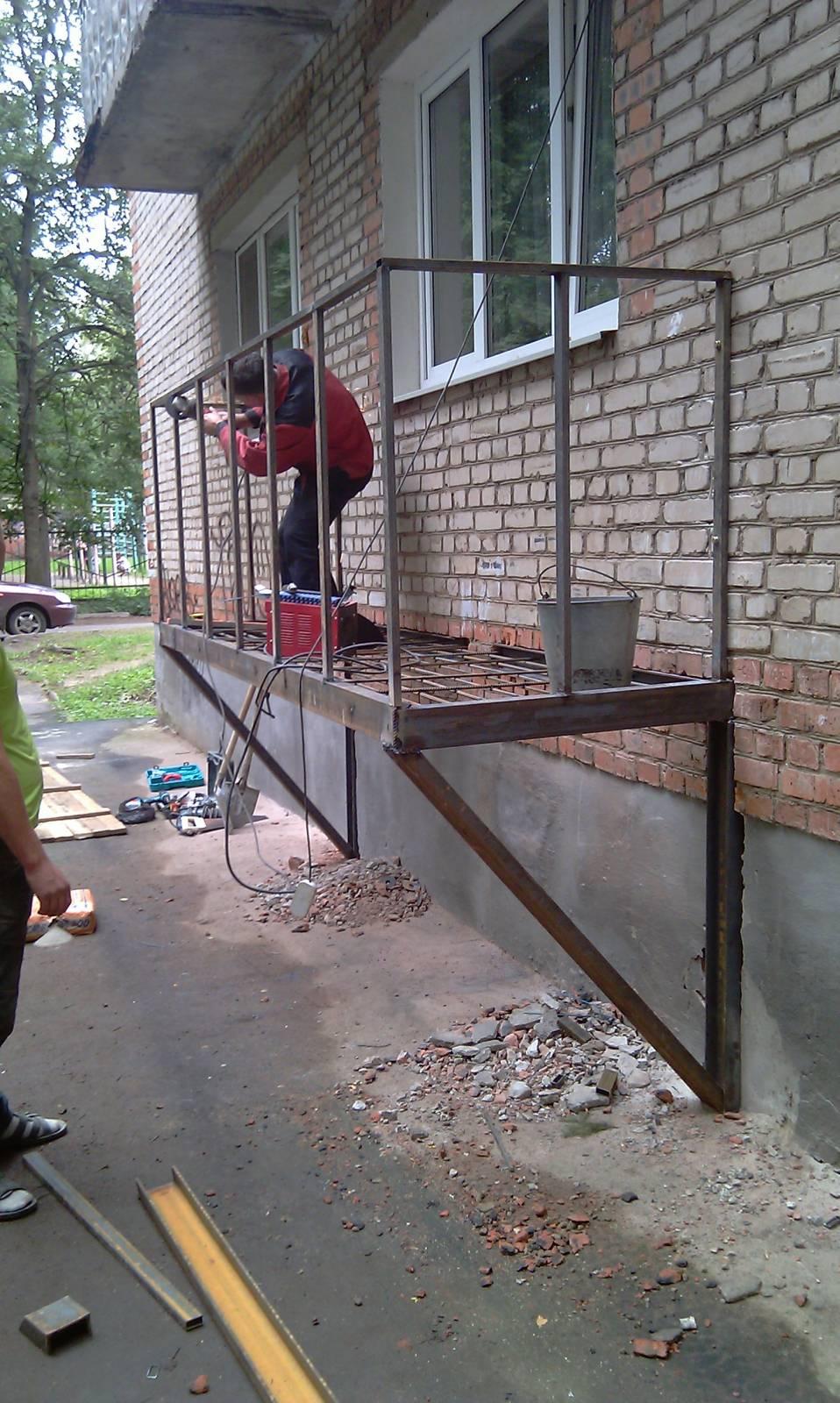 Как сделать балкон 2 этаже