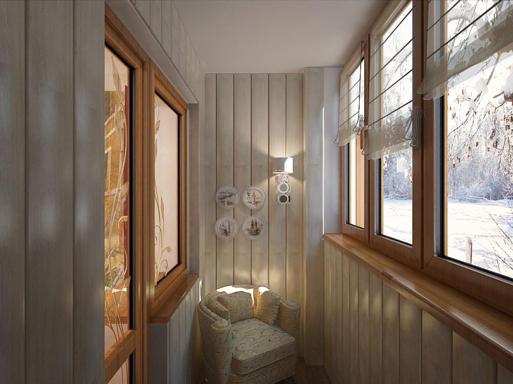 Отделка на балконе: фото.