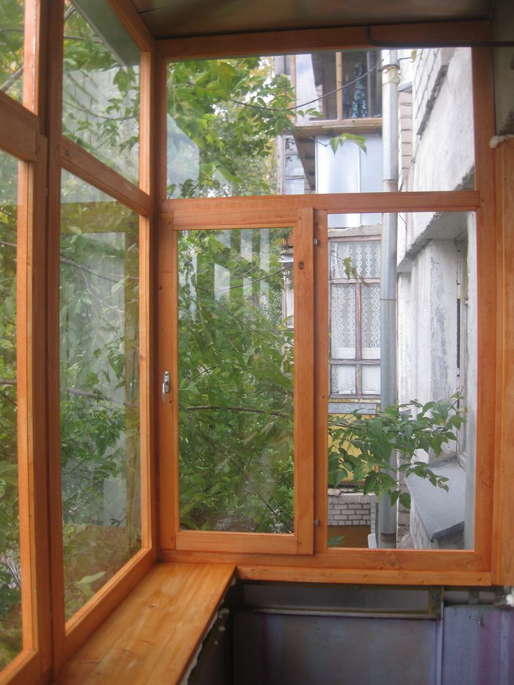 своими балкона деревянные рамы для руками остекления