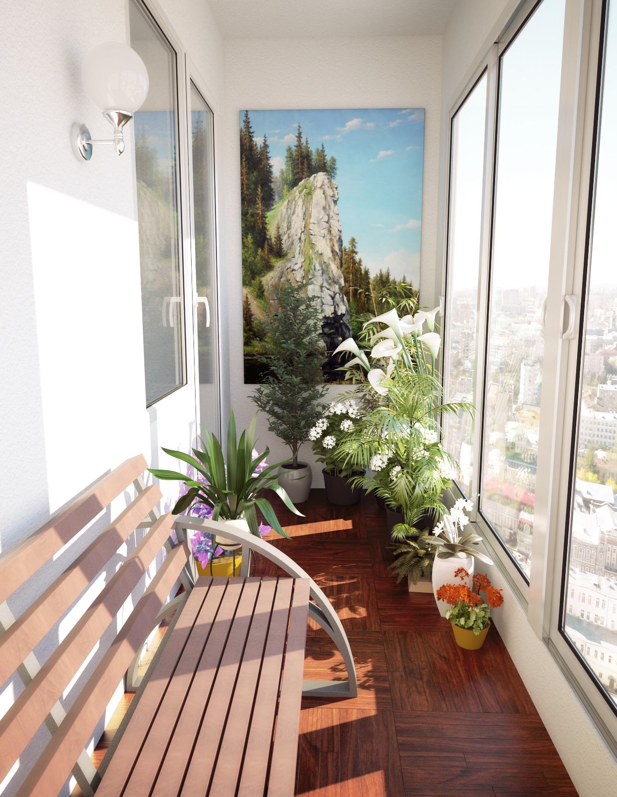 Дизайн балкона 2017 года - 120 фото идей как оформить модный.