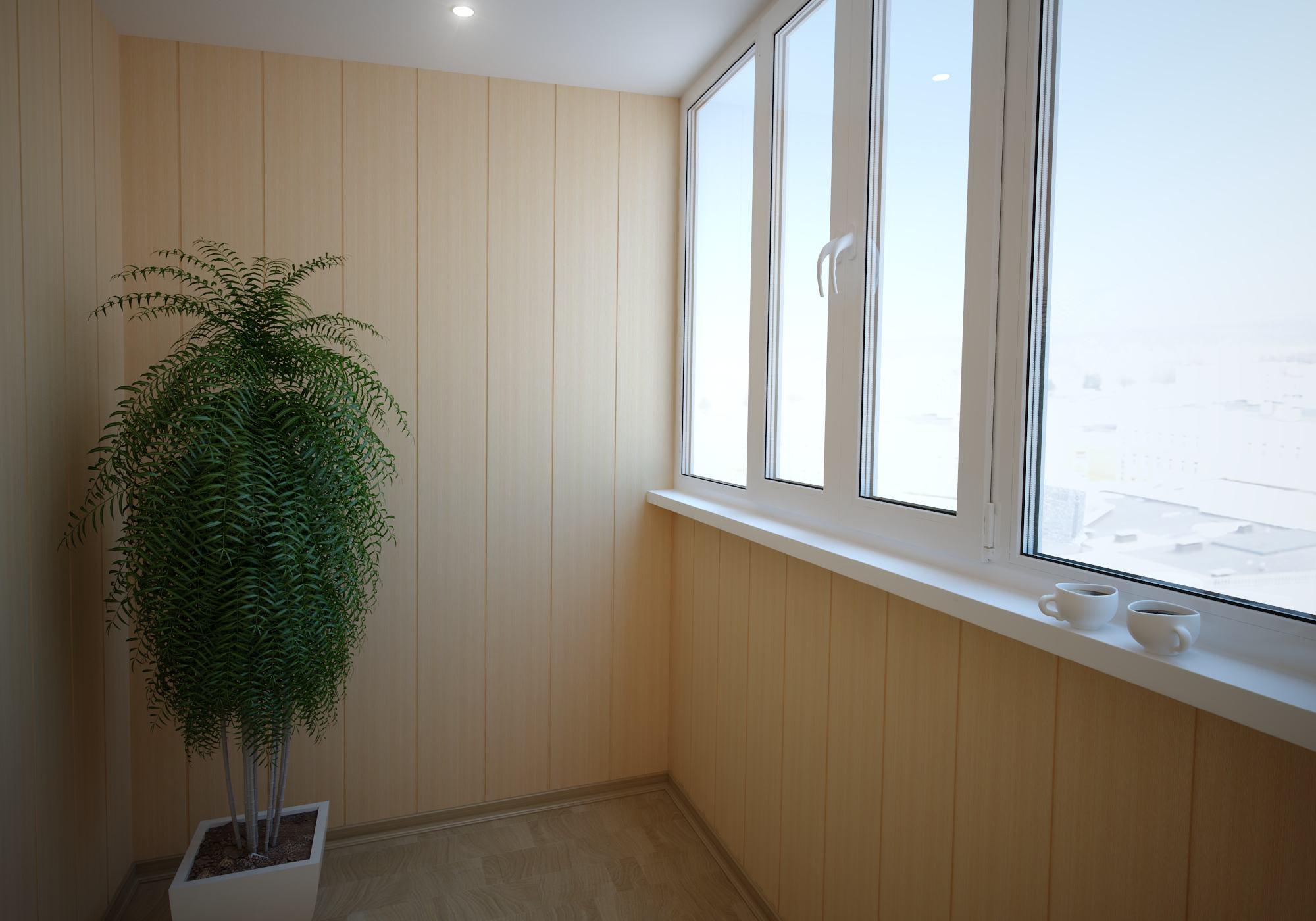 отделка пвх панелями балкона фото
