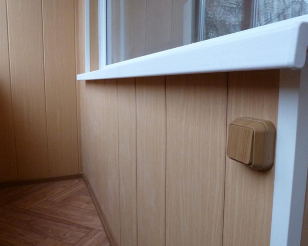 Обшивка балкона пластиковыми панелями своими руками.
