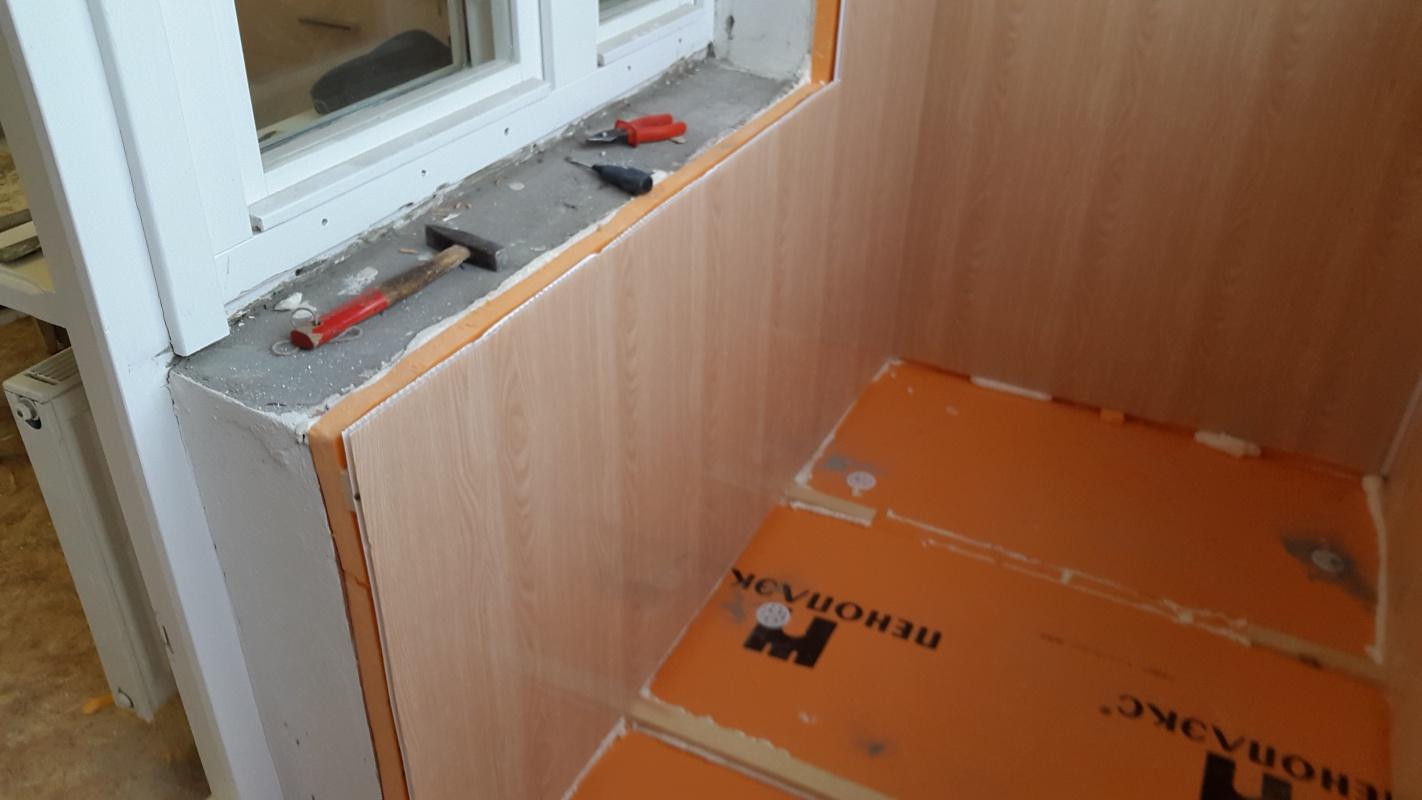 Фото обшивки балкона пластиковыми панелями своими руками