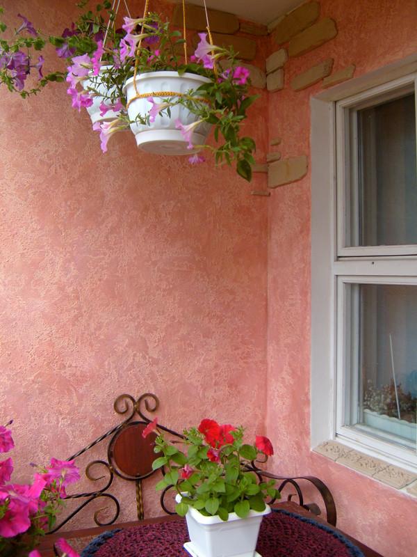 Жидкие обои на балконе: фото и отзывы.