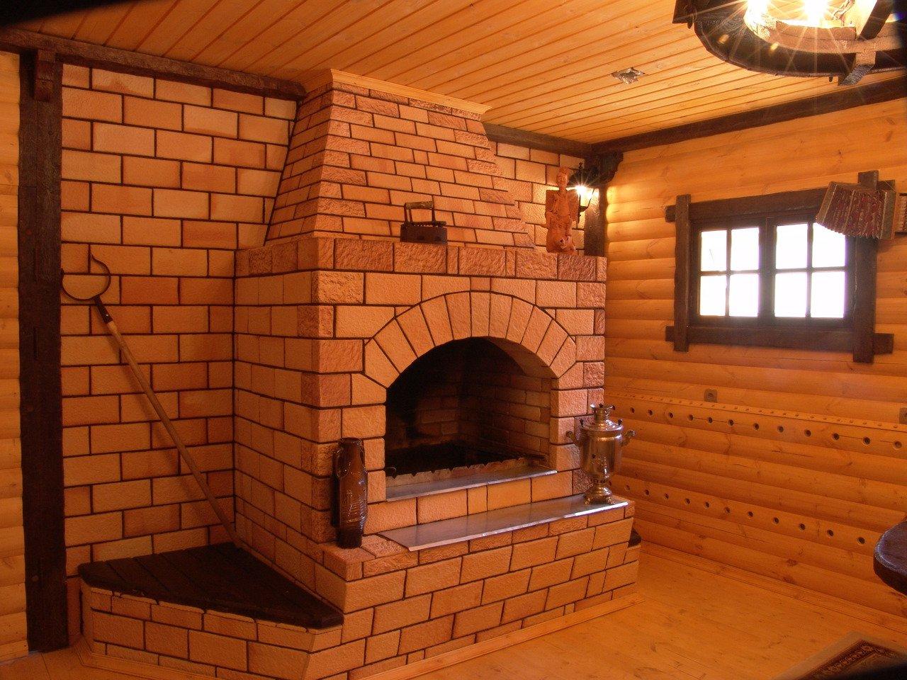 Печка в доме своими руками из кирпича