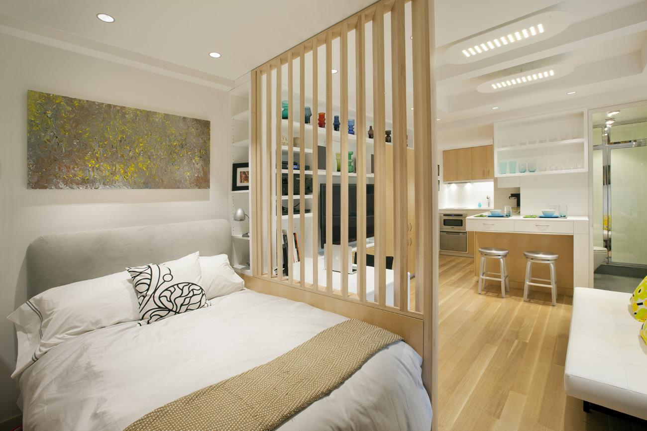 дизайн 40 кв м в однокомнатной квартире фото с перегородкой