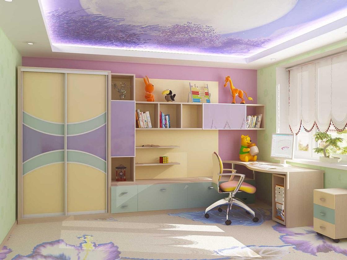 Дизайн детской комнаты для школьника.