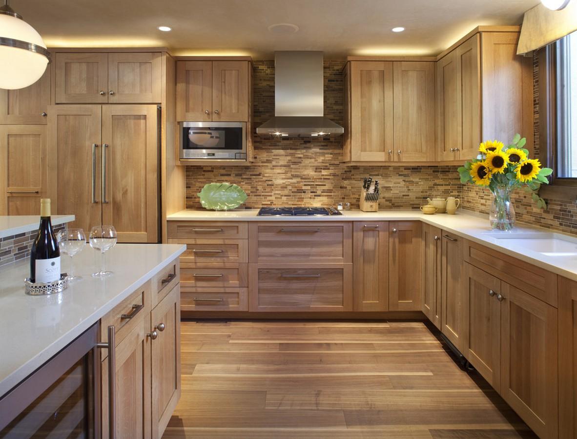 Дизайны кухни из дерева