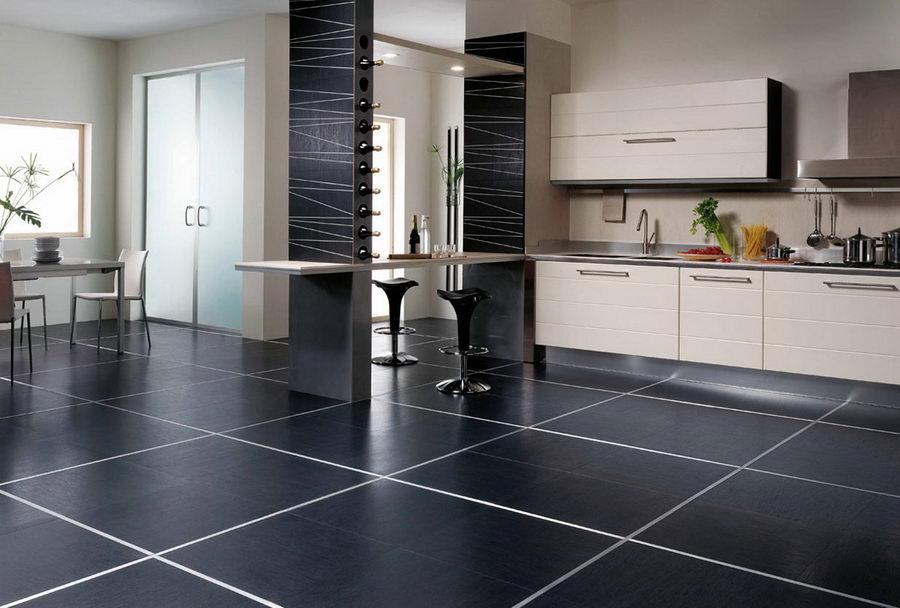 плитка на пол на кухню дизайн фото 7