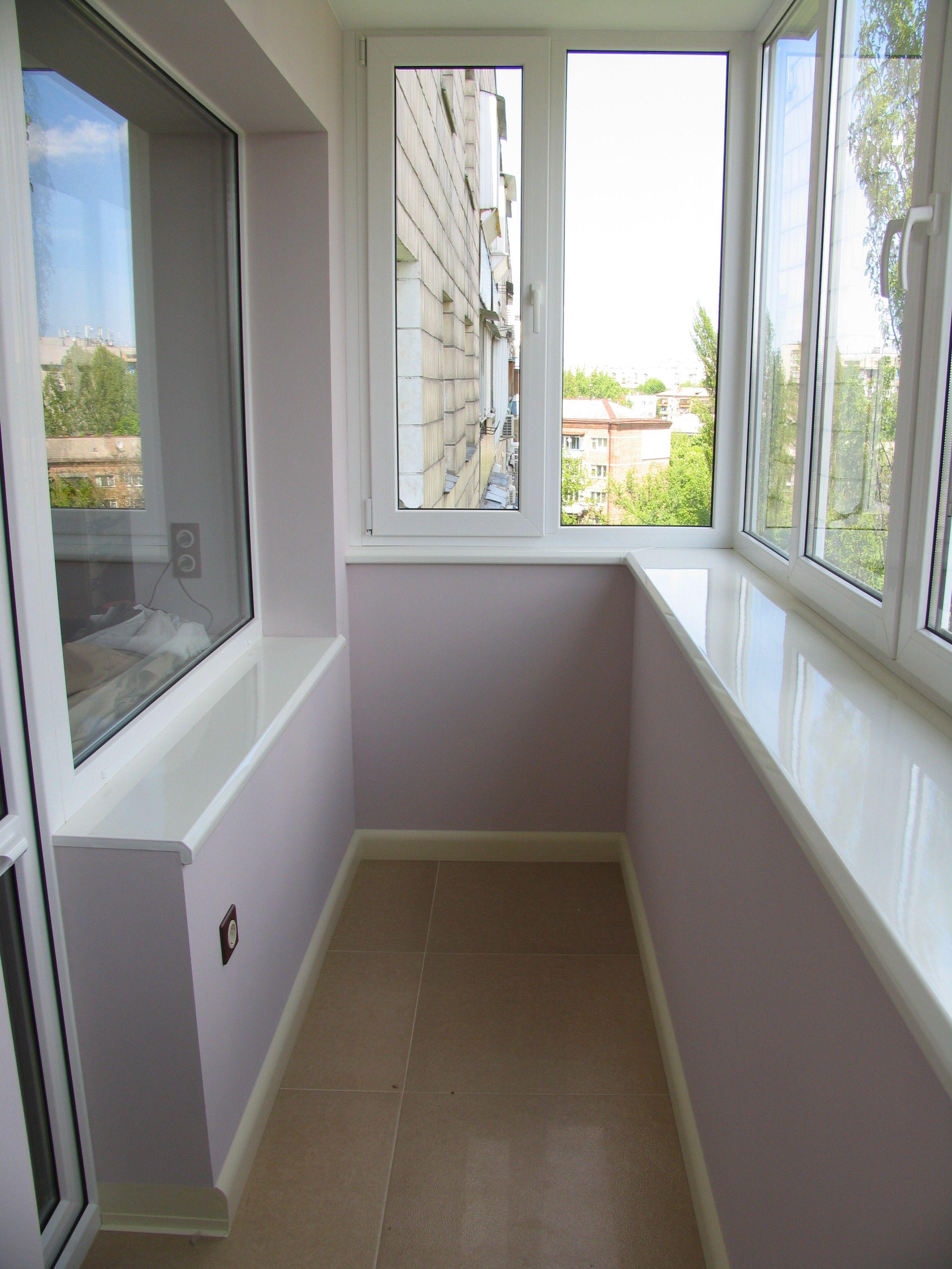 Установка подоконника на балконе в москве по выгодной цене..