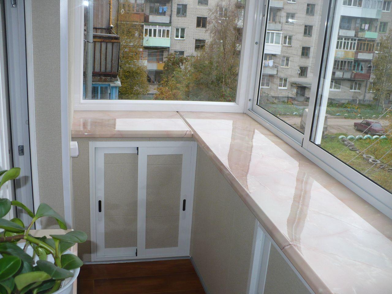 Как расширить подоконник на балконе своими руками