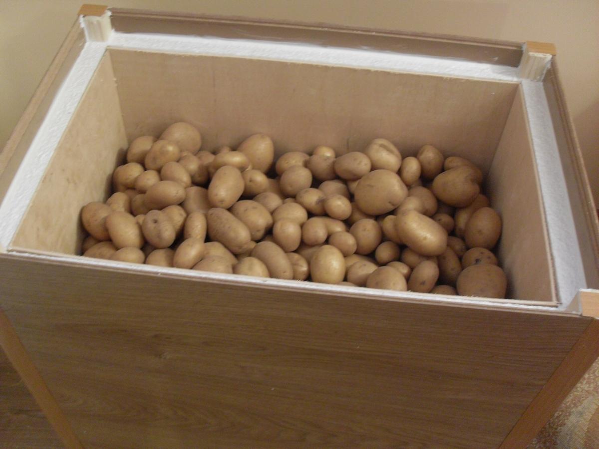 Как сделать хранилище для овощей фото 796
