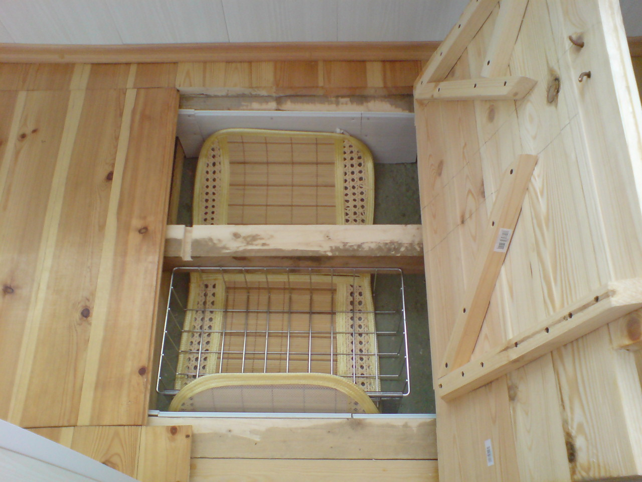 Деревянный каркас из бруса для балконов..