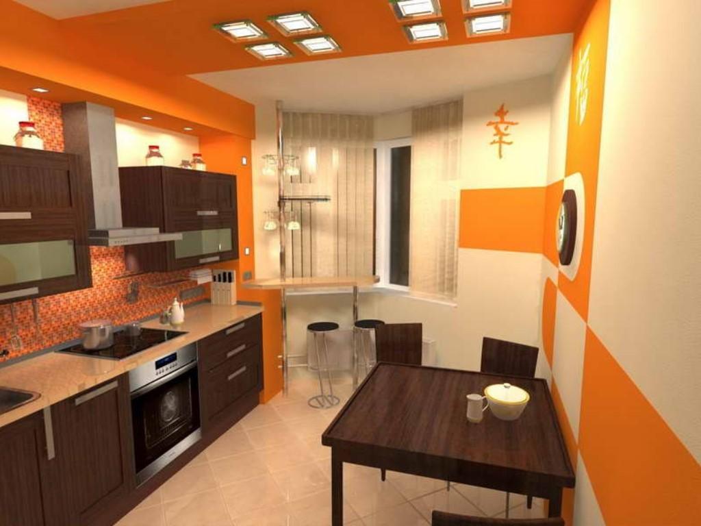 Дизайн кухни с треугольным эркером дизайн кухни - фото, опис.