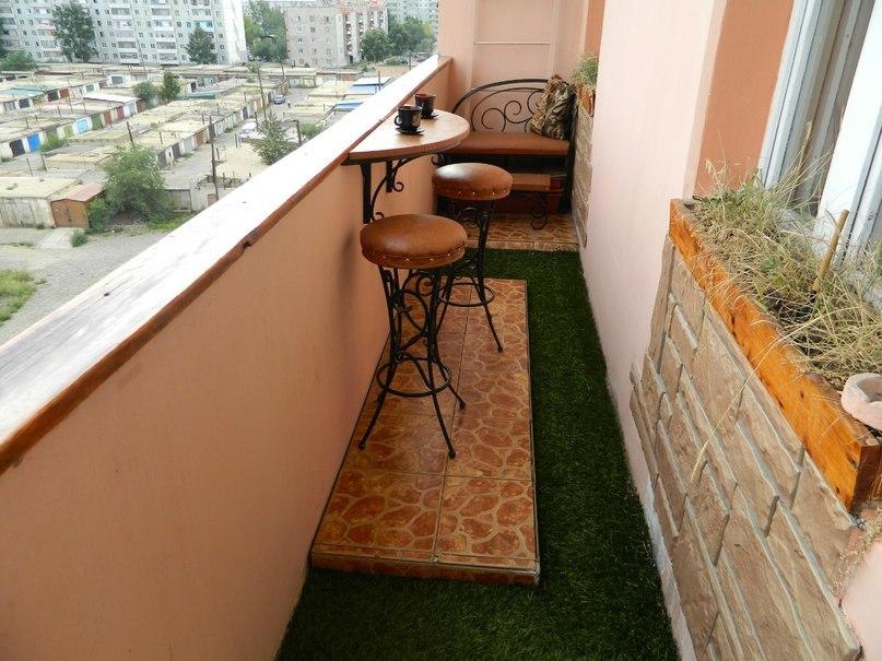 Отделка стен на балконе хрущевских домах..