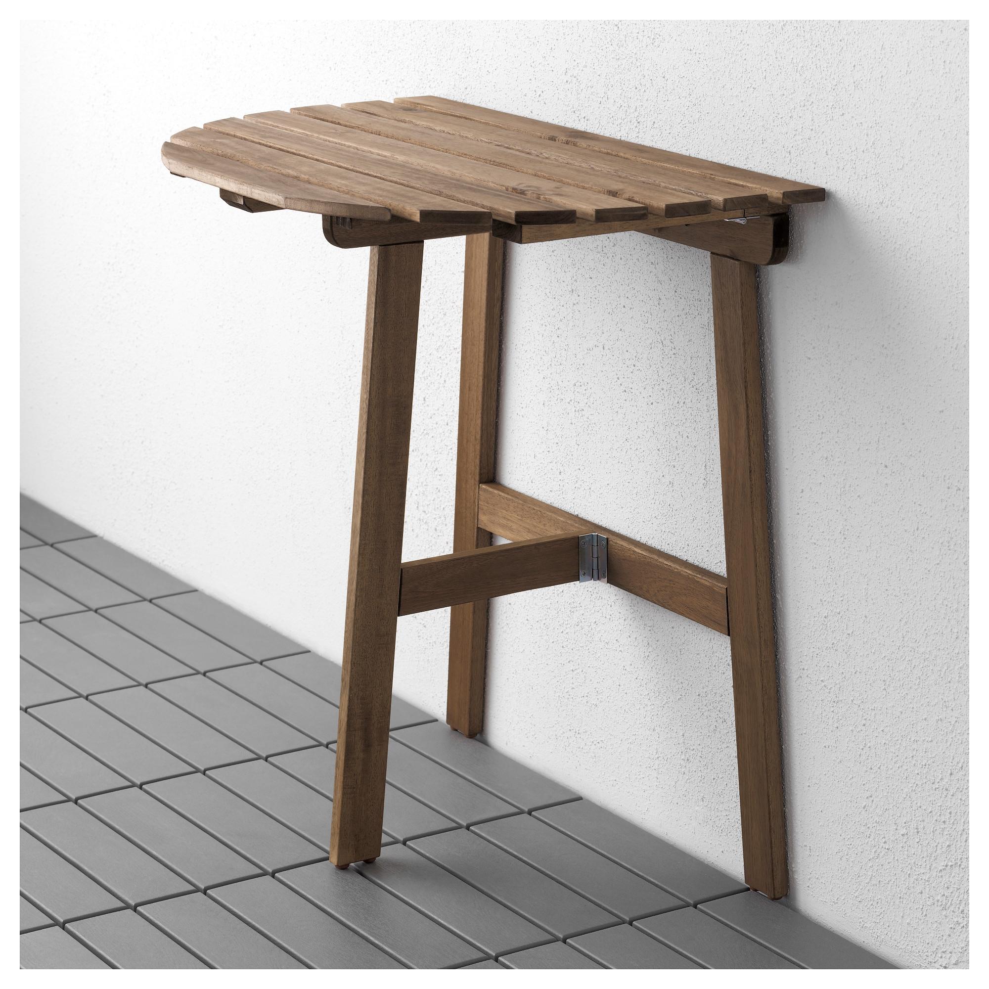Пристенный стол, садовый, складной серо-коричневая морилка -.