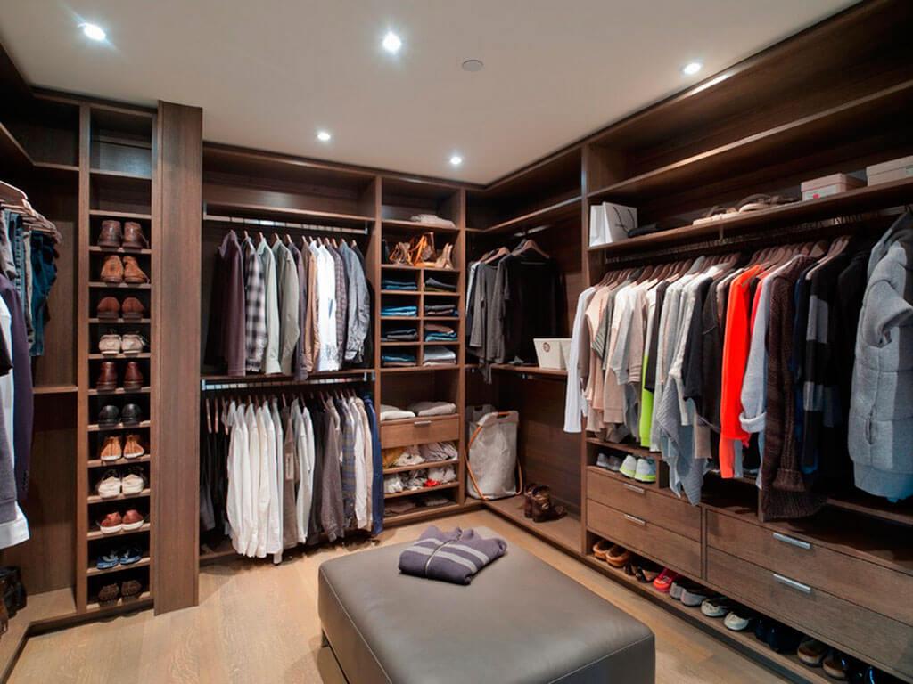 Организация полезного пространства: гардеробная комната