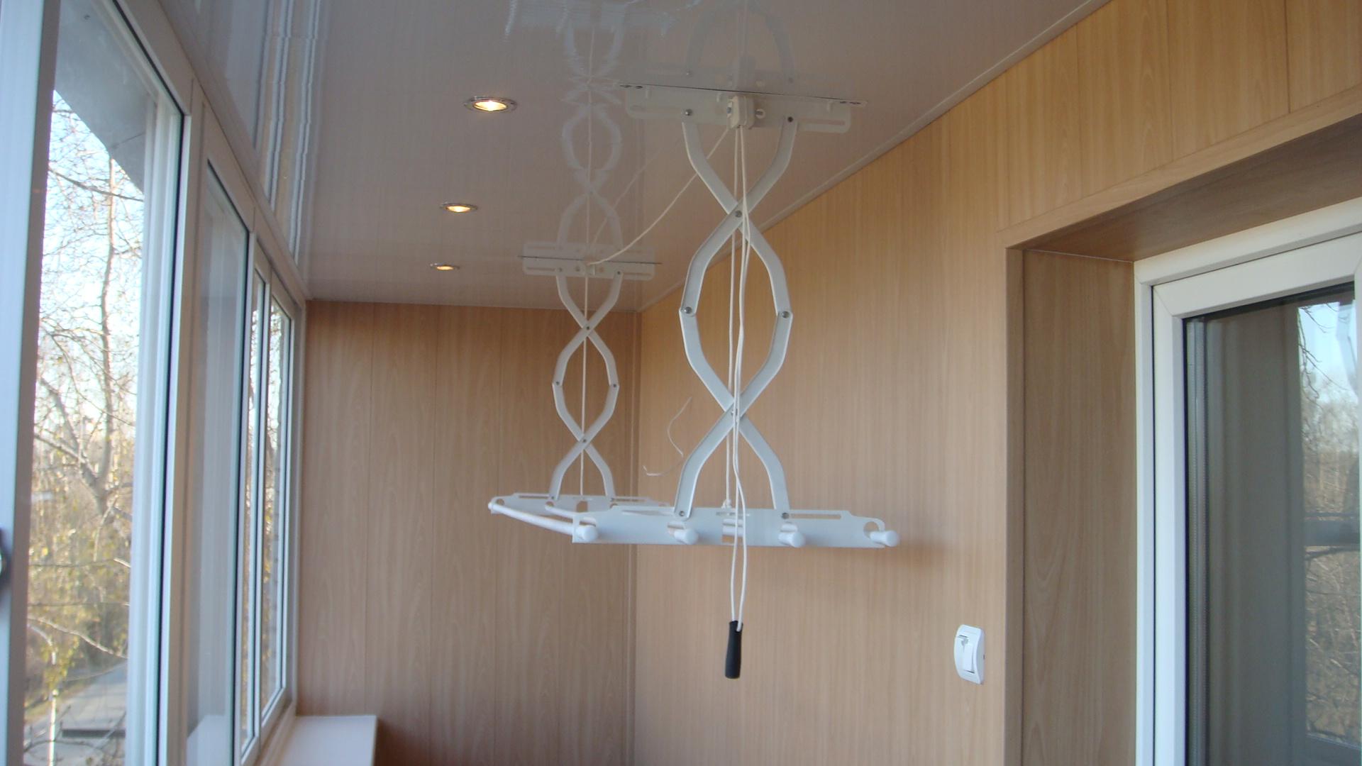 Потолочная вешалка для сушки белья - всё о балконе.