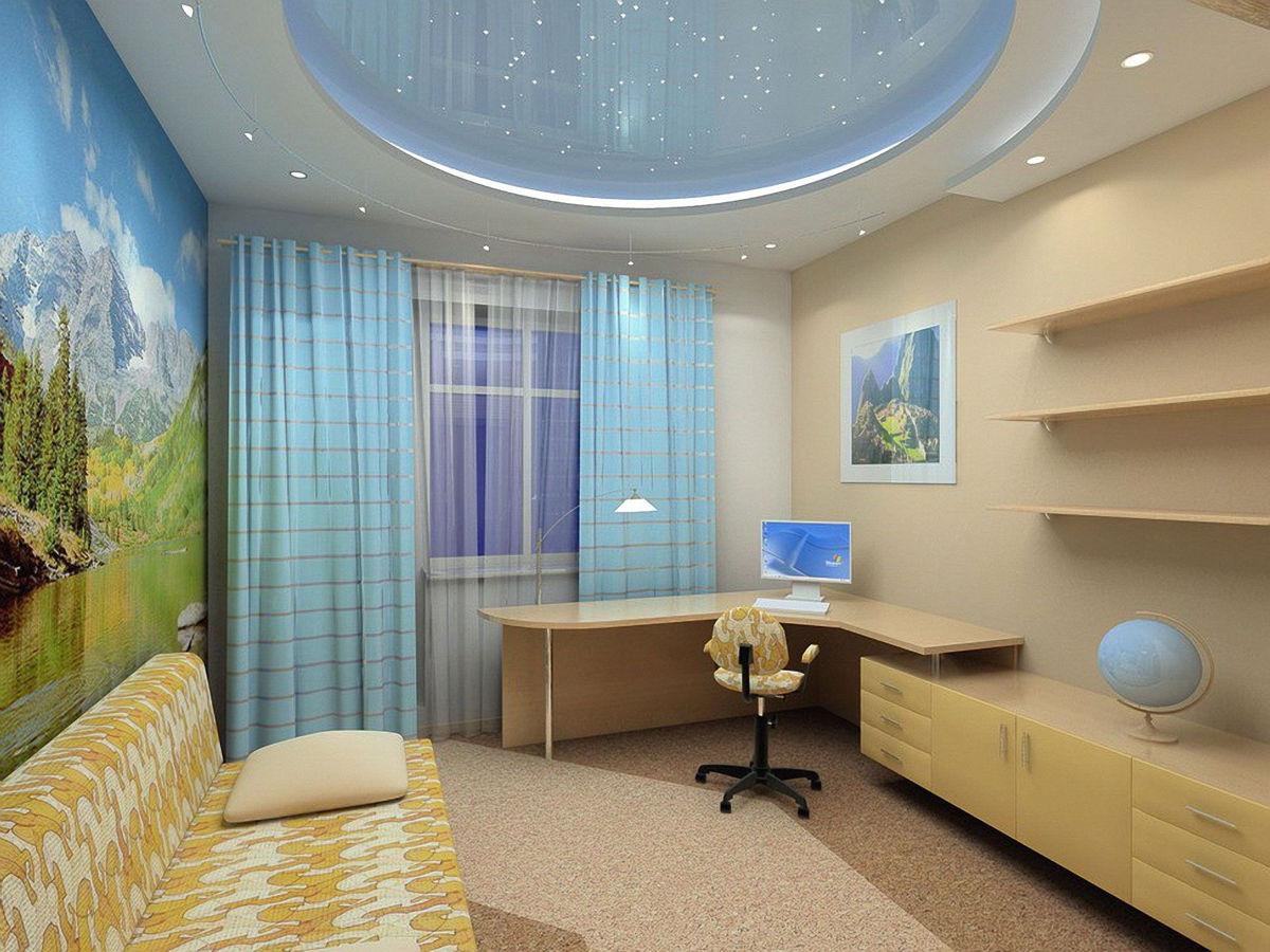 Дизайн комнат фото потолки комната как сделать потолок
